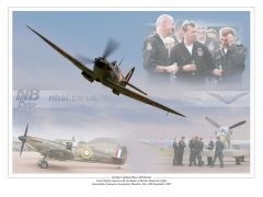Commissioned for the BBMF. This images was created to commemorate the final display season for BBMF pilot Gp.Capt. Russ Allchrone.