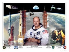 Commissioned for the Stafford Air and Space Museum in Oklahoma. The image is a NASA career montage for General Tom Stafford.