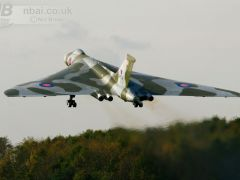 The post restoration maiden flight of the Avro Vulcan XH558. Used in the November 2010 edition of Aircraft Illustrated.