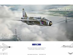 'T5 Territory', LTF T5  lightning being flown by LTF 'Boss' Dennis Brooks flying back to RAF Binbrook.