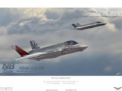 'Digital Dambusters' (Artistic Impression) A pair of 617 Squadron F35-A Lightning II from RAF marham climbing out of cloud.