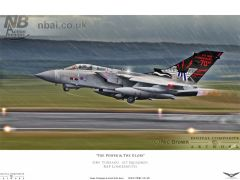 'The Power & The Glory' 617 Squadron 'special tail' GR4 Tornado taking off from RAF Lossiemouth.