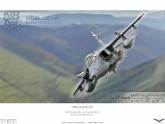 'The Last Blast' GR3 Jaguar of 6 Squadron fling in the Welsh valleys on one of it's last training flights.